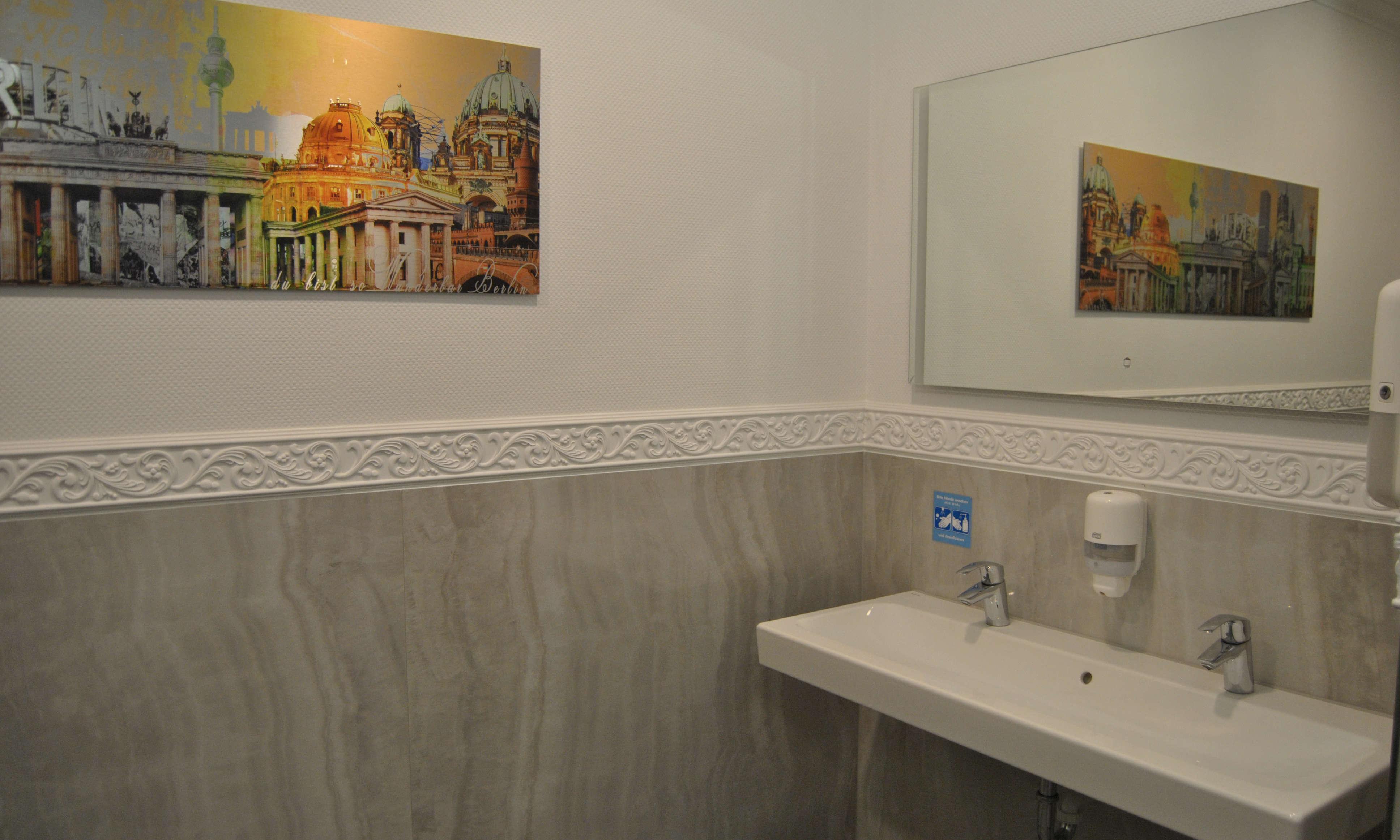neue gemachte sanitaere Einrichtung