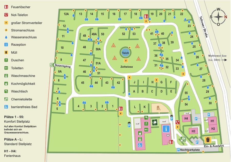 Mapa del camping