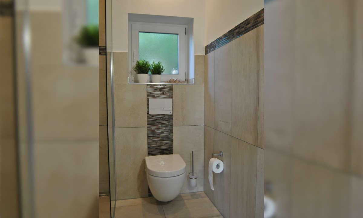 Toilette im Ferienhaus